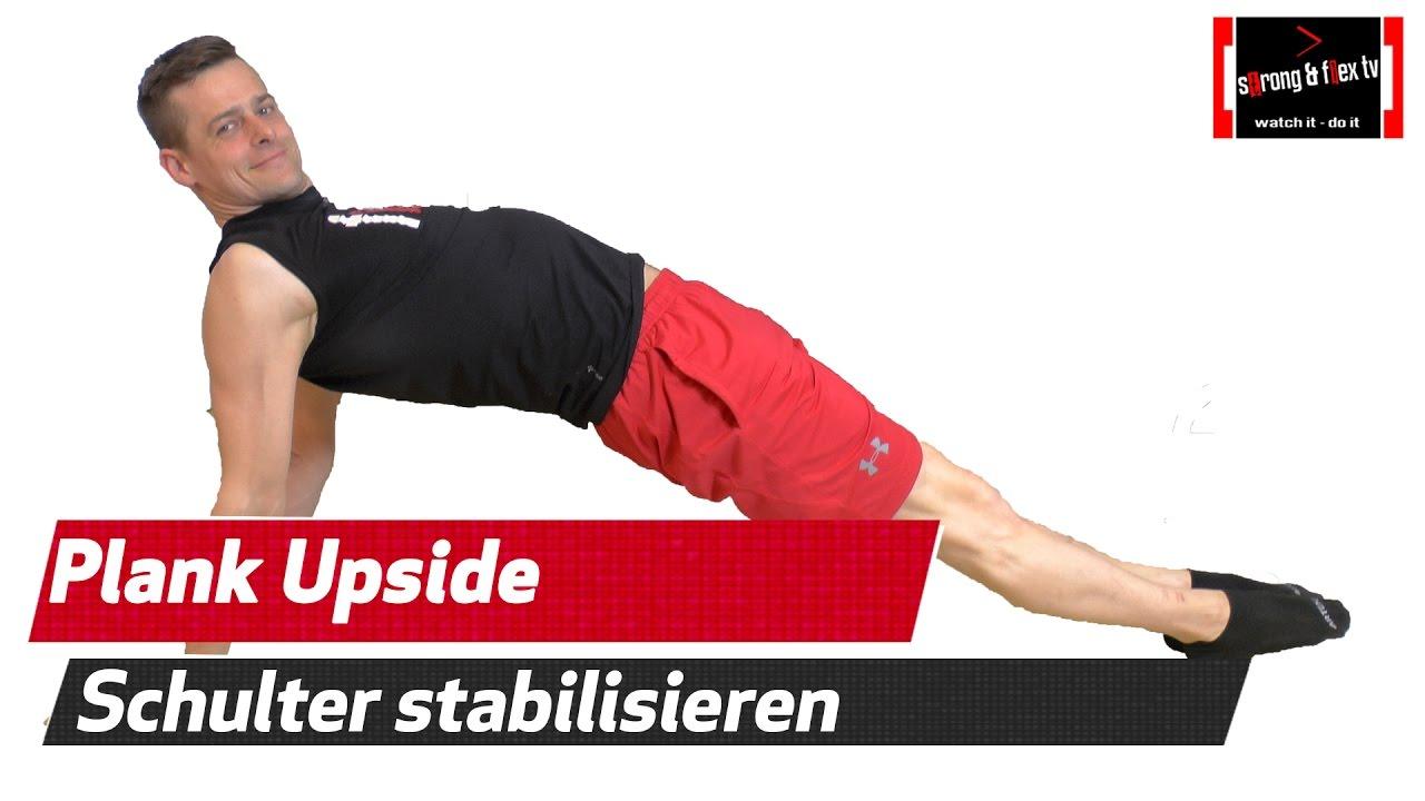 Schulter Ellenbogen Und Handgelenk Stabilisieren Reverse Plank
