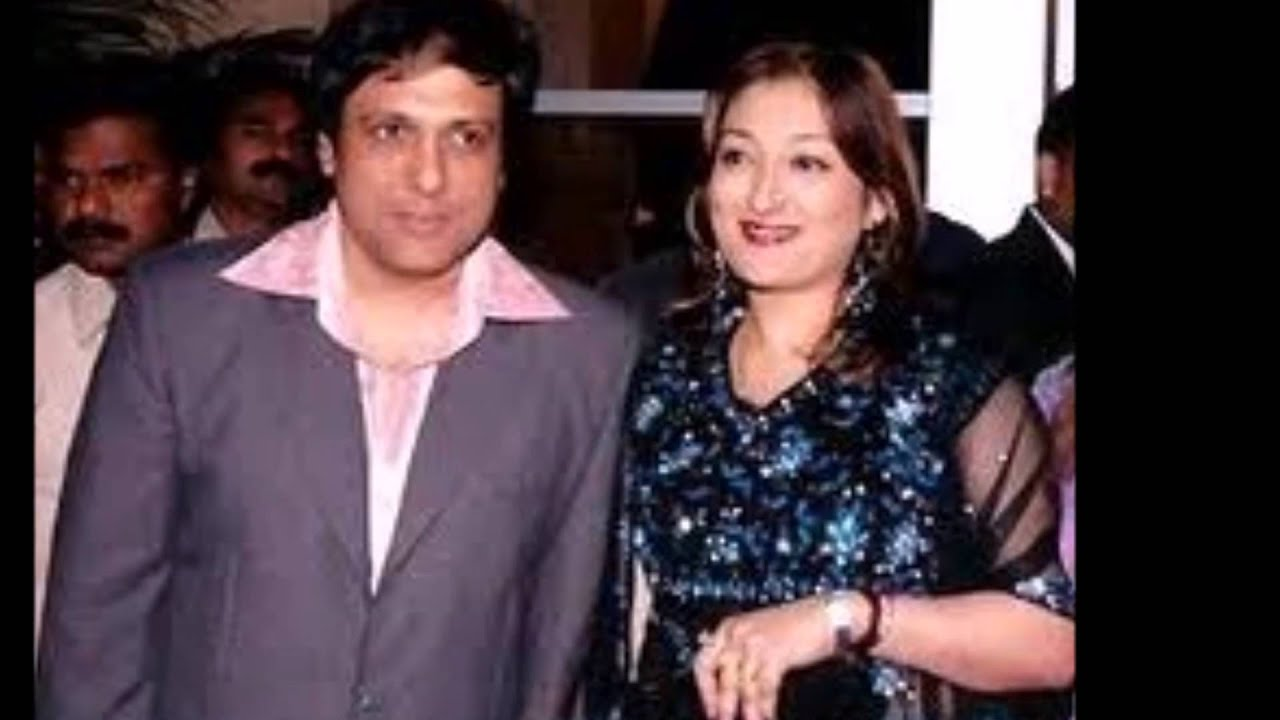 Bollywood Actor Govinda With His Wife Rare And Unseen