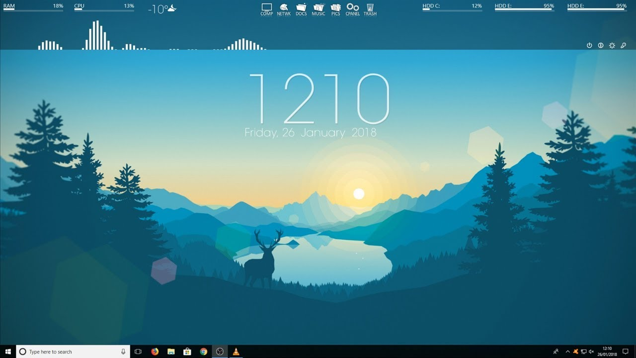 How To Make Windows 10 Look Awesome 2018 Customize Your Pc Desktop 2018 Youtube