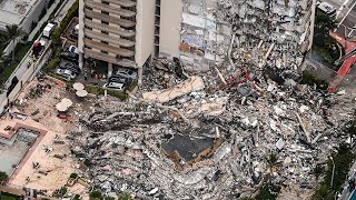 video: Four dead and 159 missing including British mother in Miami building collapse - watch press conference live