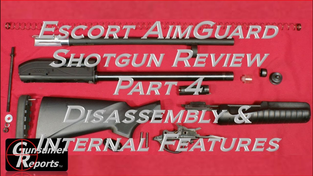 Escort Aimguard Shotgun Review Part 4 Disassembly And Internal Pump Action Diagram Features
