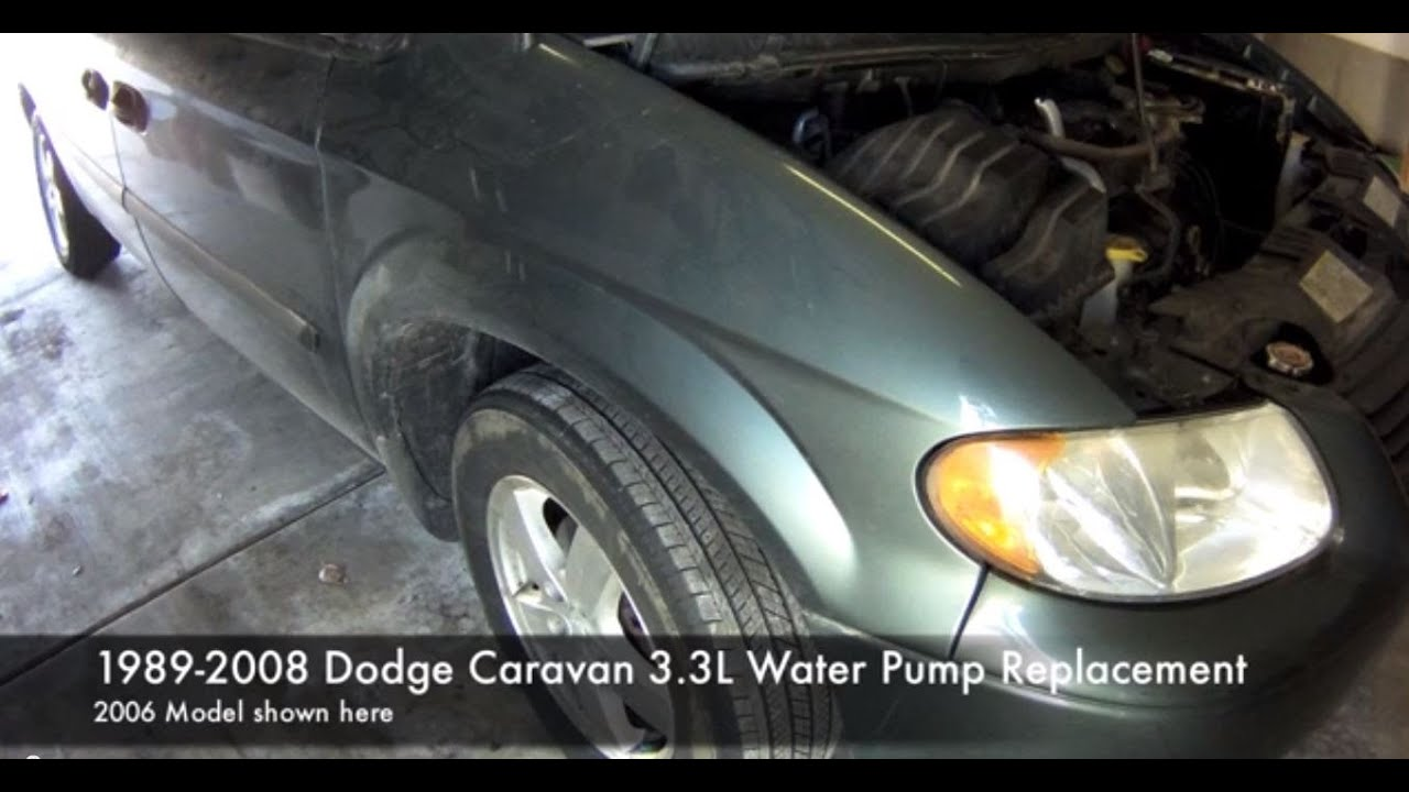 How To Replace The Water Pump In A Dodge Caravan Youtube 2010 Town And Country 3 8 Engine Diagram