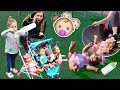 - Kids Pretend Play with Baby Dolls feeding and Playtime at the Playground