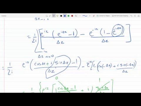 derivative of sin z and cos z in complex function using the definition of sin z and cos z 14-2-33