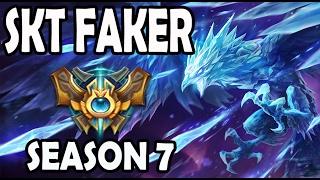 FAKER plays ANIVIA vs A Korean Diamond LISSANDRA Season 7