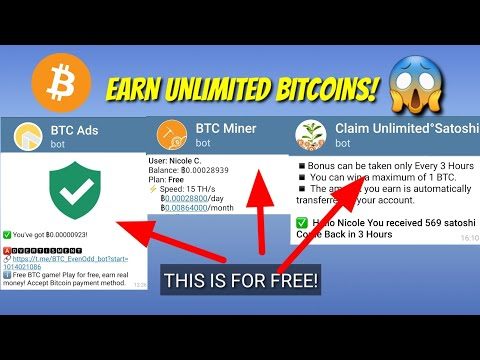 EARN UNLIMITED BITCOINS(BTC) WITH THIS CHAT BOTS! #UnlimitedBTC