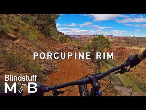 Porcupine Rim, Moab, UT | From snow to desert with awesome views, exposure and all kinds of tech.