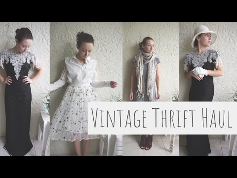 Vintage (and modern) Clothing/Craft Supplies Thrift Haul