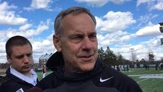 Mark Dantonio talks about spring practice