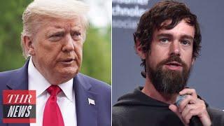 Twitter Ceo Jack Dorsey Responds To Trump | Thr News