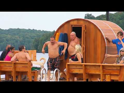 Building a FLOATING Sauna