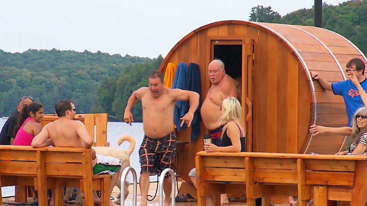 Building A Floating Sauna Youtube