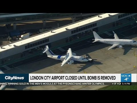 London City Airport shut after WII bomb found nearby
