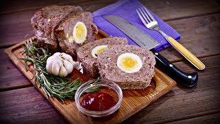 Рецепт | Сочный, мощный мясной хлеб с яйцами | Рекомендую