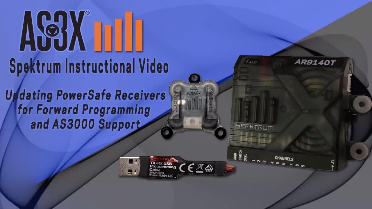 How to update your Spektrum PowerSafe Receiver for Foward Programming
