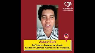 Aldair Ruiz, profesor de alemán de la Fundación Colombo-Alemana de Barranquilla