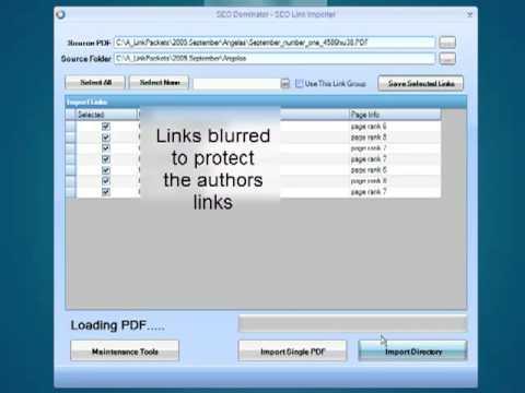 Google SEO Link Dominator p2 - Import you PDF Links