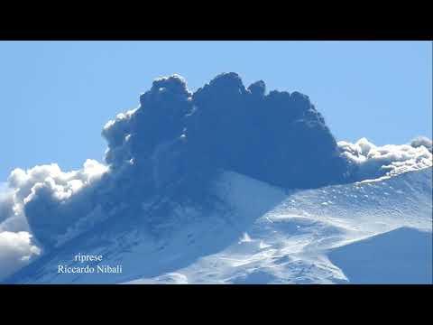 Etna 24 dicembre 2018 eruzione  vulcanica monte Etna 4k