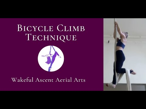 How to do a CLEAN Bicycle Climb - Aerial Silks - Wakeful Ascent Aerial Arts