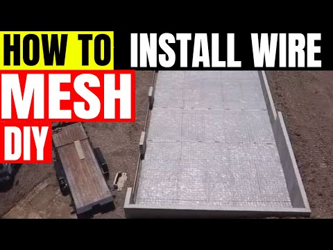 Wire mesh for concrete #wiremesh #concrete #rebar