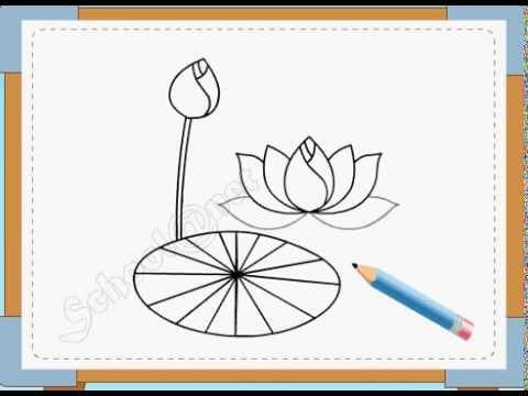 BÉ HỌA SĨ - Thực hành tập vẽ 21: Vẽ hoa sen