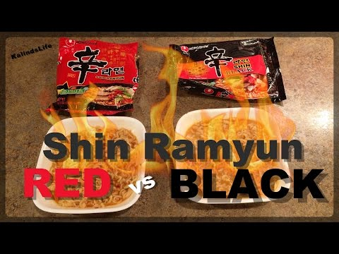 Spicy Shin Ramyun Red vs Black!!! The Ultimate Ramen Noodle Battle | WHATS THE DIFFERENCE? |