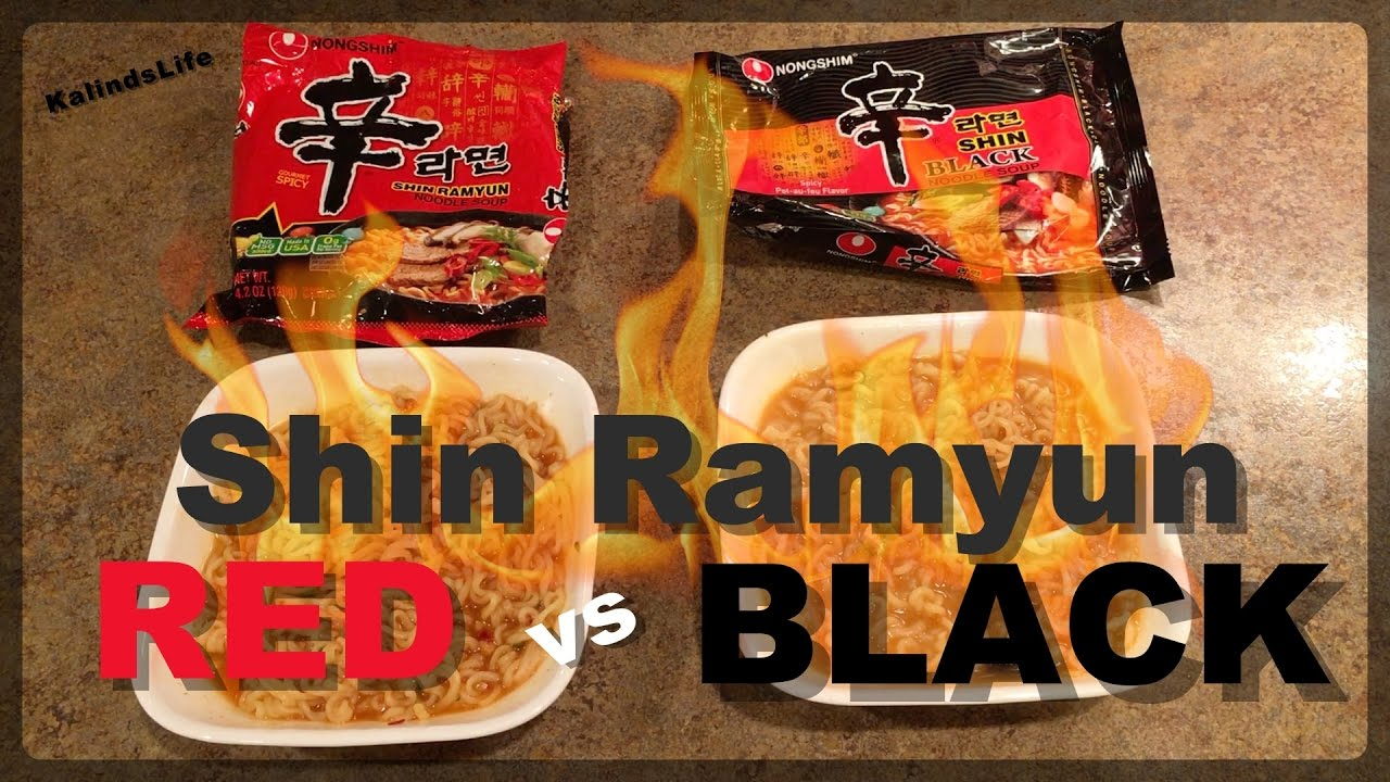 Spicy Shin Ramyun Red Vs Black The Ultimate Ramen