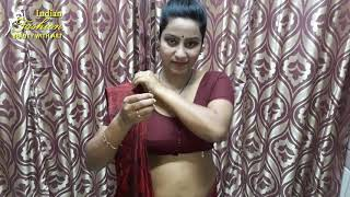 How to wear a saree in Marwari…