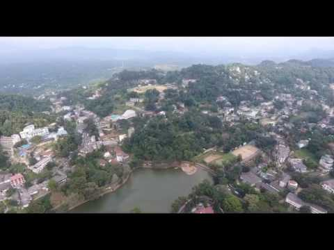 Aerial View of Dharmaraja college Kandy Sri Lanka