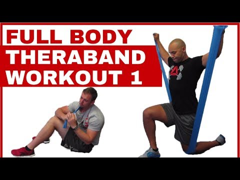 Full body Theraband workout #1