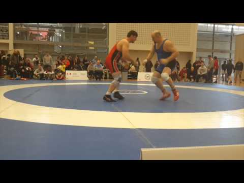 2015 Senior Greco-Roman National Championships: 130 kg Amir Bazrafshan vs. Peter Brown