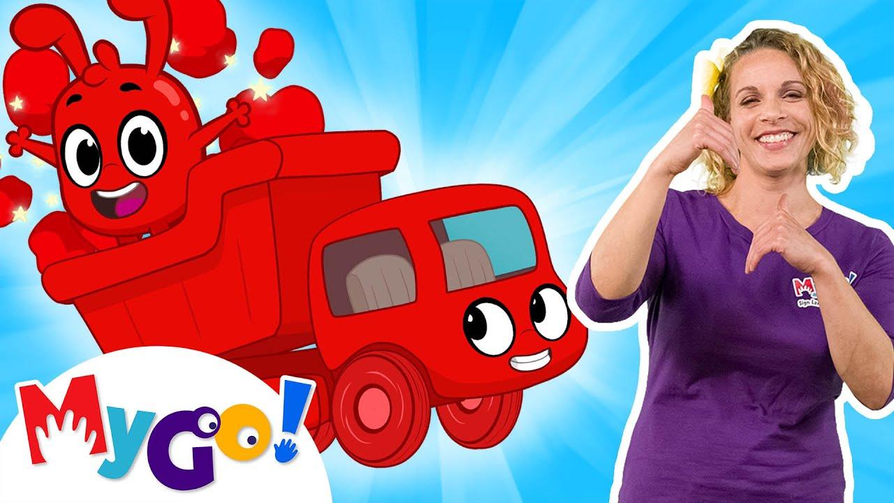Morphle's Big Red Truck   MyGo! Sign Language For Kids   Morphle   ASL