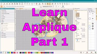 Intro to machine Embroidery Applique:Digitizing, editing, detail work!