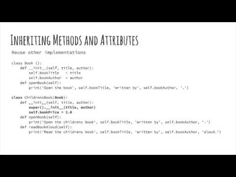 Python: 2.3 - Classes