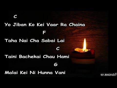 Prarthana lyrics with guitar chords || Neetesh Jung Kunwar ||