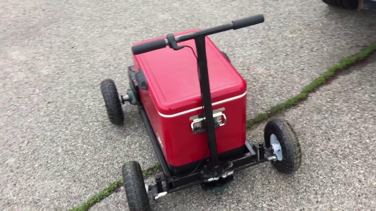 Motorized cooler diy for Motor cooler on wheels