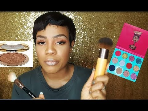 BRONZING VS CONTOURING | NATURAL EYE LOOK WITH JUVIA'S PLACE SAHARAN PALETTE