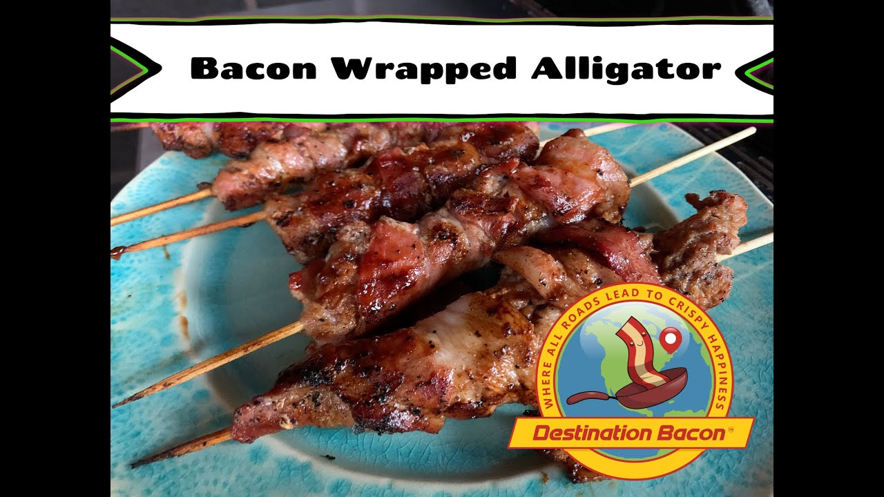 Bacon Wrapped Alligator