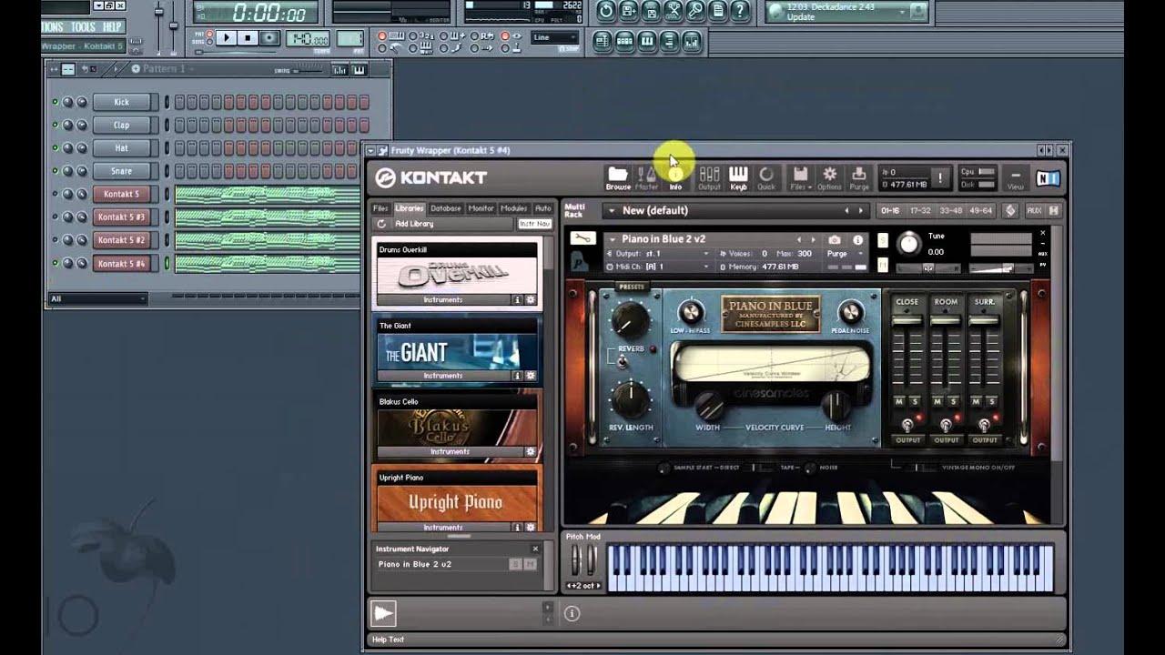cinesamples piano in blue kontakt