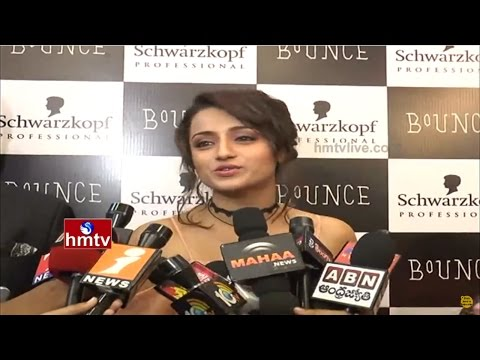 Actress Trisha Launches Bounce Salon & Spa Center at Inorbit Mall | Hyderabad |  HMTV