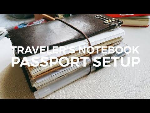 + TRAVELER'S NOTEBOOK PASSPORT SETUP