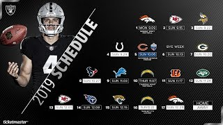 The 2019 Raiders schedule is here