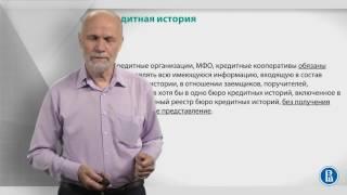 Курс лекций по банковской системе. Лекция 20: Кредитная история