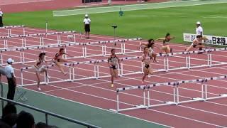 20100606日本陸上選手権_女子100mH準決勝2 伊藤あい 動画 27