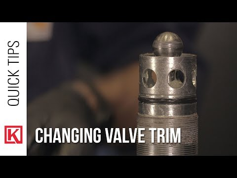 How To Change The Valve Trim On A High Pressure Control Valve