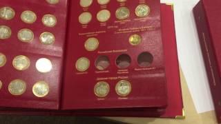 Юбилейные монеты России в альбоме коллекционер.(, 2017-06-23T08:26:37.000Z)