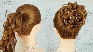 Simple High Bun Hairstyles For Long Hair | Elegant Prom Updo Hairstyles | Easy Wedding Hairstyle