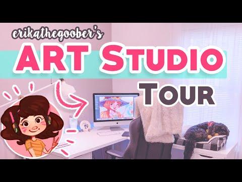 ART STUDIO TOUR!! 🎨   My Freelance Digital Art Studio SetUp!