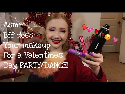 ASMR~ BFF Does Your Makeup For A Valentines Day Party/Dance ❤️ Mp3