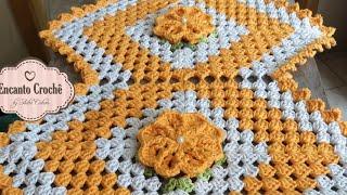 Caminho de mesa losango em crochê